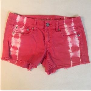 American Eagle Outfitters tie dye denim shorts